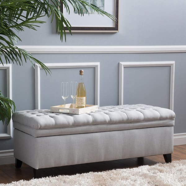 Strange Shop Christopher Knight Home Hastings Tufted Fabric Storage Ncnpc Chair Design For Home Ncnpcorg