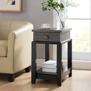 Furniture of America Gavin Contemporary Two-tone 1-drawer Side Table