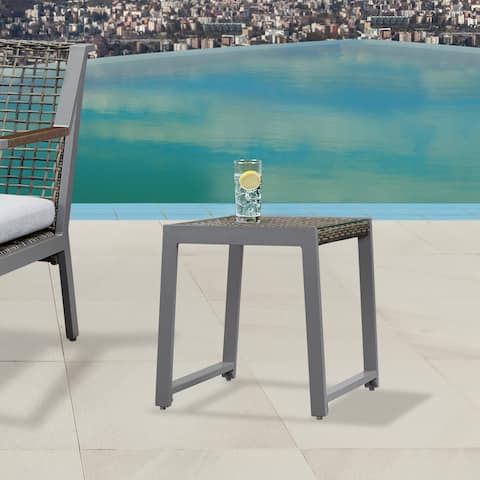 Calvin End Table Set of Two Gray by Real Flame - 20L x 19.357W x 20H
