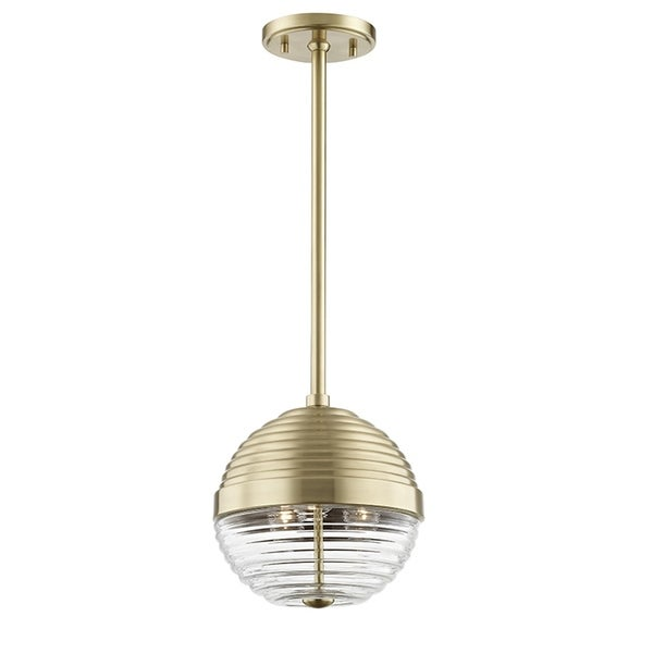 Hudson Valley Easton 3-light Aged Brass Small Pendant