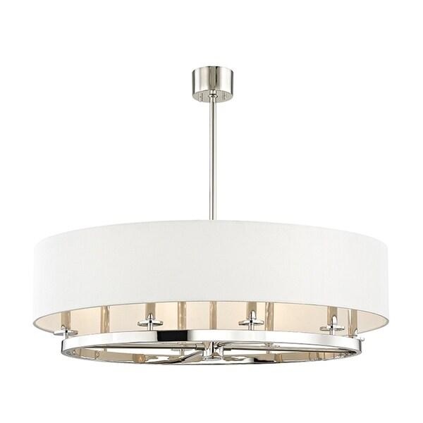 Hudson Valley Durham 8-light Polished Nickel Pendant
