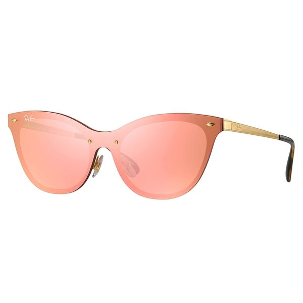 f5dae5b9ab7 Shop Ray-Ban RB3580N Blaze Cat Eye Sunglasses Gold  Pink Mirror 43mm ...