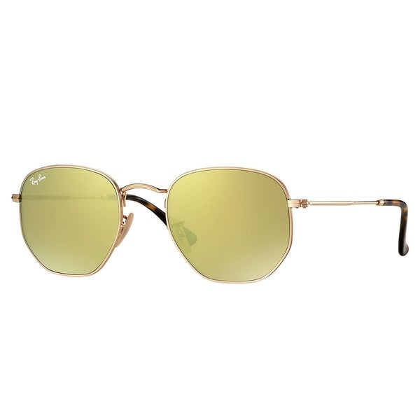 68c48d6520b82 Ray-Ban RB3548N Hexagonal Flat Lenses Sunglasses Gold  Yellow Flash 51mm -  Gold