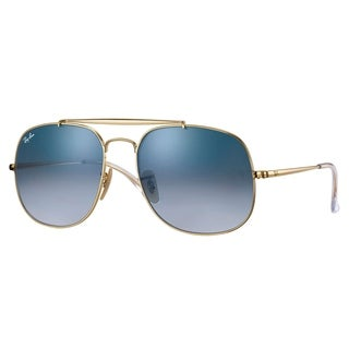 Ray-Ban RB3561 General Sunglasses Gold/ Light Blue Gradient 57mm