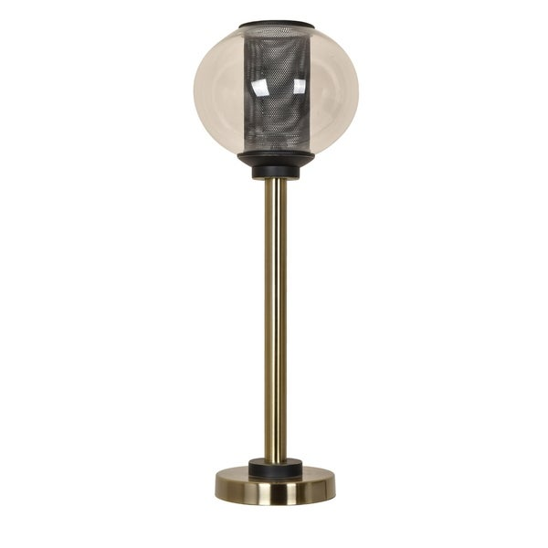 Weller Soft Brass and Black 31-inch Table Lamp