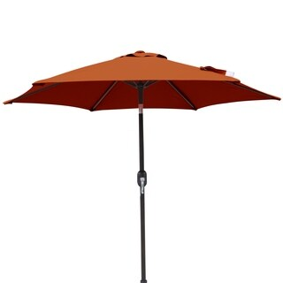 Bistro 7.5-ft Hexagonal Market Umbrella in Terra Cotta Olefin