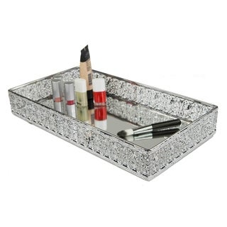 Home Basics Chrome Ornamental Vanity Tray