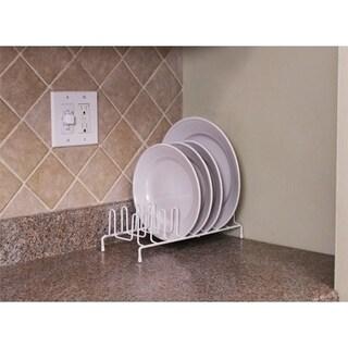 Home Basics White Vinyl Coated Steel Plate Rack