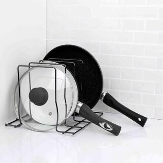 Home Basics Black Onyx Steel Lid Rack