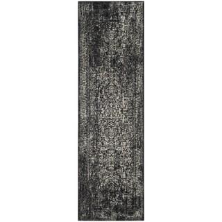 Safavieh Evoke Quinn Vintage Boho Medallion Distressed Rug (22 x 9 Runner - Black/Grey)