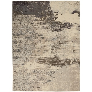 Nourison Celestial Abstract Colorful Area Rug (710 Round - Ivory/Grey)