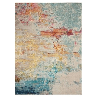 Nourison Celestial Abstract Colorful Area Rug (53 Round - Sealife)