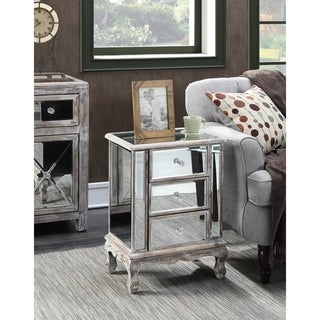 Link to Silver Orchid Talmadge 3-Drawer Mirrored End Table Similar Items in Living Room Furniture