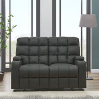 Strick & Bolton Leighton Grey Microfiber 2-seat Reclining Storage Loveseat