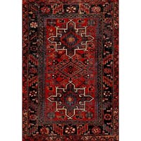 Safavieh Vintage Hamadan Jasmin Traditional Red/ Multi Rug - 4' x 6'