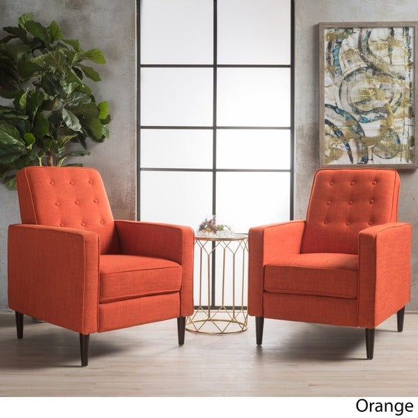 Mervynn Mid Century Fabric Recliner Club Chair (Set Of 2) By Christopher  Knight
