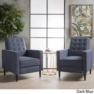 Buy Blue Mid Century Modern Recliner Chairs Rocking Recliners