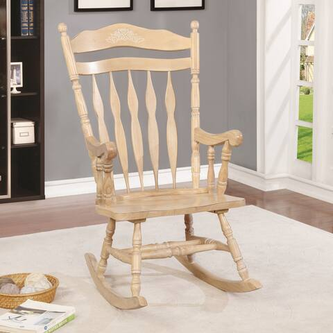 Furniture of America Fisc Country Solid Wood High Back Rocking Chair