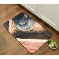 "Ms. Grey Memory Foam Anti Fatigue Anti Slip Barkley Collection Mat by Pets@Heart - ms. grey/cat - 18"" x 30""/1'6"" x 2'6"""