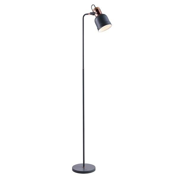 Versanora - Lattine Monopod Floor Lamps - Grey/Gold