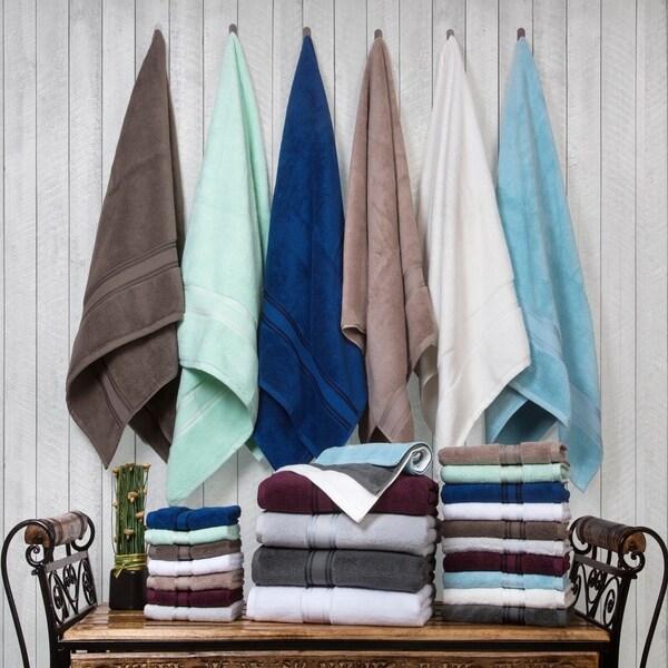 Lezeth 18-piece Super Soft Zero Twist Cotton Towel Set