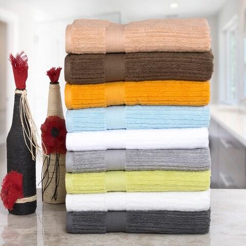 Quick Dry Elegance Spa Zero Twist Cotton 6-piece Towel Set