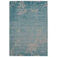 """""""Distressed Waters Ocean Blue"""" - 5'3"""" x 7'6"""""""