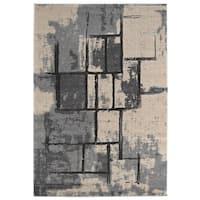 Stonework Cream Grey - 5'3 x 7'6