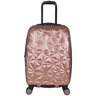 Aimee Kestenberg Geo Chic 20-inch Lightweight Expandable Hardside Carry On Spinner Suitcase