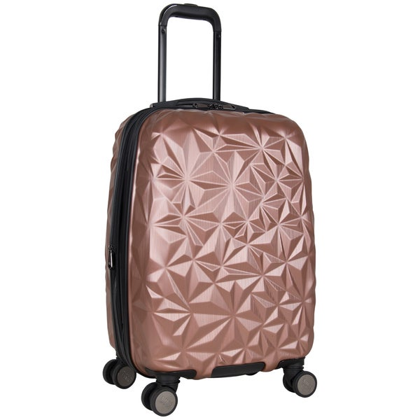 c06f98b84 Aimee Kestenberg Geo Chic 20-inch Lightweight Expandable Hardside Carry On  Spinner Suitcase