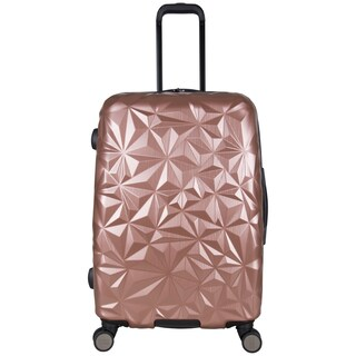 Aimee Kestenberg Geo Chic 24-inch Lightweight Hardside Expandable Spinner Suitcase (Option: rose gold)