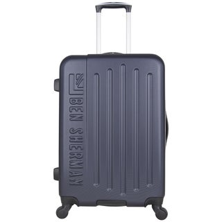 Ben Sherman Leicester 24-inch Lightweight Embossed Hardside 4-Wheel Spinner Checked Suitcase