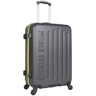 Ben Sherman Embossed 24-inch Lightweight Hardside Spinner Upright Suitcase