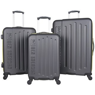 Ben Sherman Embossed 3-Piece Lightweight Hardside Spinner Luggage Set