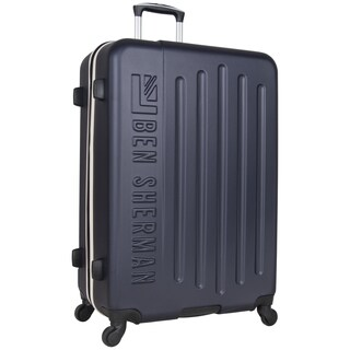 Ben Sherman Leicester 28-inch Embossed Lightweight Hardside 4-Wheel Spinner Checked Suitcase