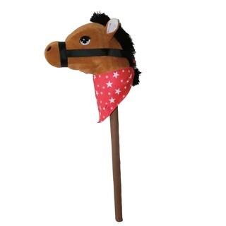 "Ponyland Giddy-Up 28"" Stick Horse Plush, Brown Horse w/sound"