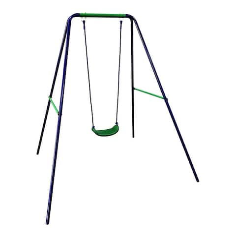 ALEKO Playground Child Sturdy Outdoor Swing Seat - W: 55 x H: 70 x L: 55 inches