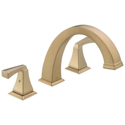 Tub Faucet Bronze Finish Delta Shop Online At Overstock