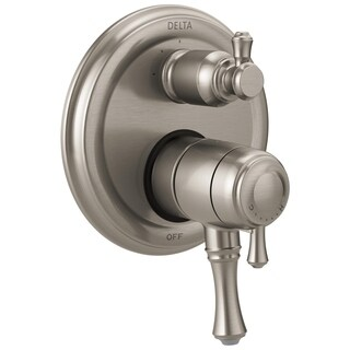 Delta Cassidy Traditional 2-Handle Monitor 17 Series Valve Trim with 3-Setting Integrated Diverter T27897-SS Stainless