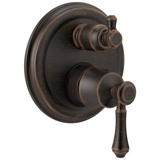 Delta Cassidy Traditional 2-Handle Monitor 14 Series Valve Trim with 6-Setting Integrated Diverter T24997-RB Venetian Bronze