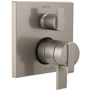 Delta Ara Angular Modern Monitor 17 Series Valve Trim with 6-Setting Integrated Diverter T27967-SS Stainless