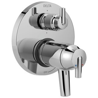 Delta Trinsic Contemporary Two Handle TempAssure 17T Series Valve Trim with 6-Setting Integrated Diverter T27T959 Chrome