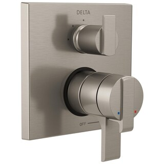 Delta Ara Angular Modern Monitor 17 Series Valve Trim with 3-Setting Integrated Diverter T27867-SS Stainless
