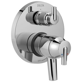 Delta Trinsic Contemporary Two Handle Monitor 17 Series Valve Trim with 3-Setting Integrated Diverter T27859 Chrome