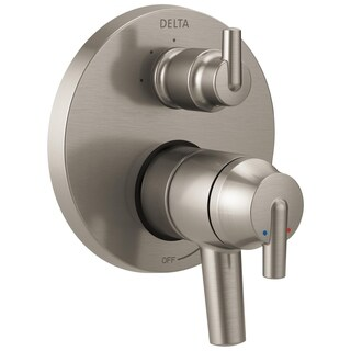 Delta Trinsic Contemporary Two Handle Monitor 17 Series Valve Trim with 3-Setting Integrated Diverter T27859-SS Stainless