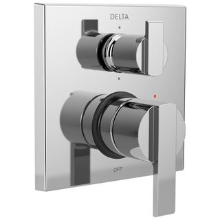 Delta Ara Angular Modern Monitor 14 Series Valve Trim with 6-Setting Integrated Diverter T24967 Chrome