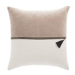 Nikki Chu Kirat Pink/Ivory Textured Down Throw Pillow 22 inch