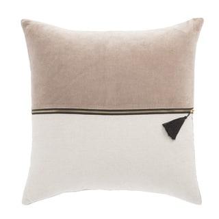 Nikki Chu Kirat Pink/Ivory Textured Poly Throw Pillow 22 inch