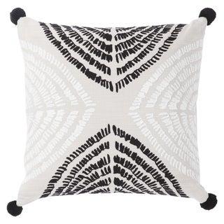 Nikki Chu Angelika Black/Silver Textured Poly Throw Pillow 22 inch