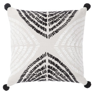Nikki Chu Angelika Black/Silver Textured Down Throw Pillow 22 inch